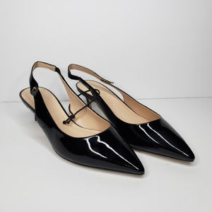 Kate Spade Shiloh Black Patent Leather Slingback 8
